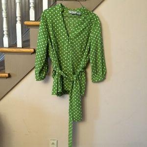 Gorgeous Green Polka Dot Millenium Shirt